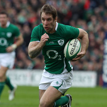 Tomas O'Leary in action for Ireland