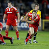 Referee Carlo Damasco watches Munster scrum half Tomas O'Leary break away from a ruck