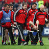 Munster suffered an early setback when scrum half Tomas O'Leary was carried off with a season-ending ankle injury