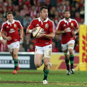Tommy Bowe in action for the Lions earlier in the tour