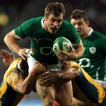 Tommy Bowe in action against Australia last November