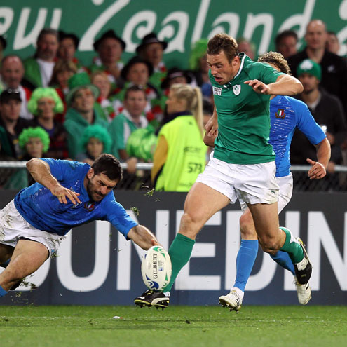 Photos of Ireland's final Pool C victory over Italy in Dunedin