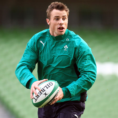 Tommy Bowe training with the Ireland squad