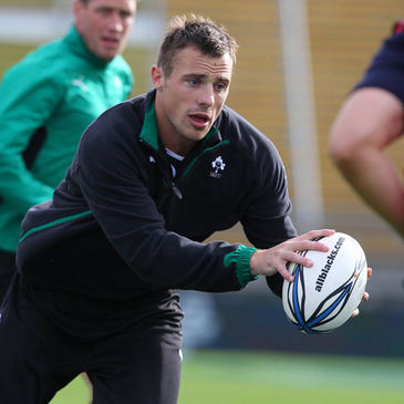Ireland winger Tommy Bowe in action at Yarrow Stadium