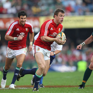 Tommy Bowe on the attack for the Lions