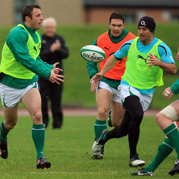 Tommy Bowe, Rob Kearney and David Wallace