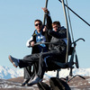 Tommy Bowe and Ronan O'Gara enjoyed the picturesque setting of the Skyline Luge, which offers spectacular views of Queenstown and the Remarkables mountain range