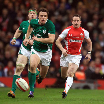 Tommy Bowe in action against Wales last March
