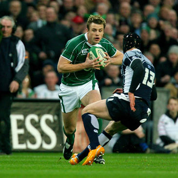 Tommy Bowe on the attack against Scotland last year