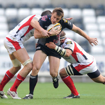 Tommy Bowe in action for the Ospreys against Ulster