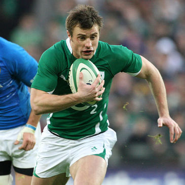 Tommy Bowe in action against Italy