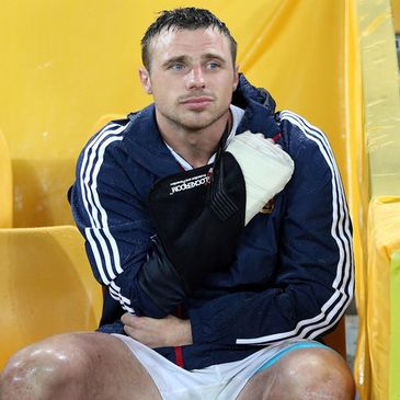 Tommy Bowe was injured playing with the Lions
