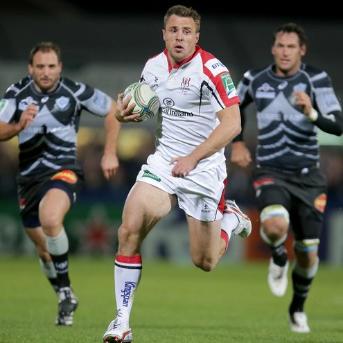 Tommy Bowe makes a break for Ulster