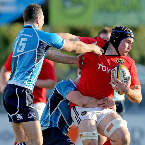 Tommy O'Donnell in possession for Munster 'A'