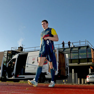 Tommy O'Donnell walks out for training at UL