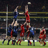 Flanker Alan Quinlan, who was making his 201st appearance for Munster, gets up to win a lineout ball