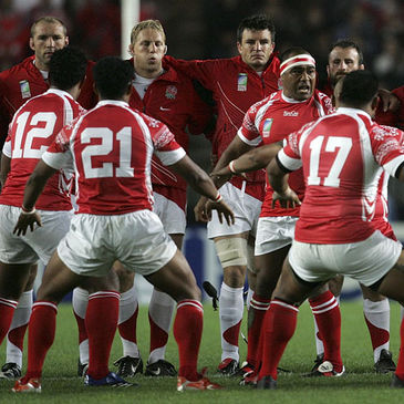 Tonga perform the sipi tau at the 2007 World Cup
