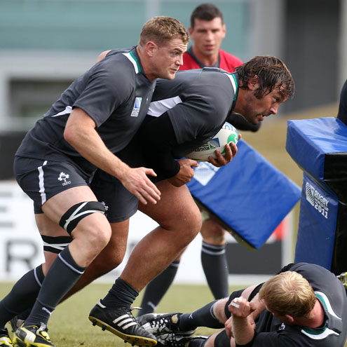 Ireland Open Training Session At Queenstown Events Centre, Queenstown, New Zealand, Sunday, September 4, 2011