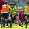 Tony Buckley carries the ball into contact as the Munster players tune up for the visit of Conor O'Shea's Harlequins side