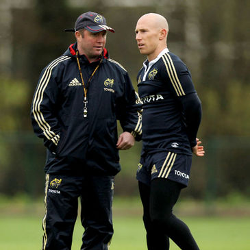 Peter Stringer with Munster head coach Tony McGahan