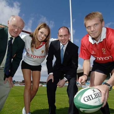 Ulster and international referee Simon McDowell at the launch