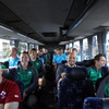The Ireland players were in good form on the team bus as they made their way to Mt Smart Stadium in Auckland