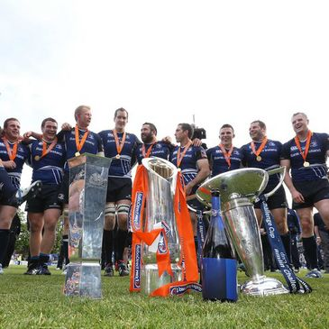 Leinster ended the 2012/13 season with three trophies
