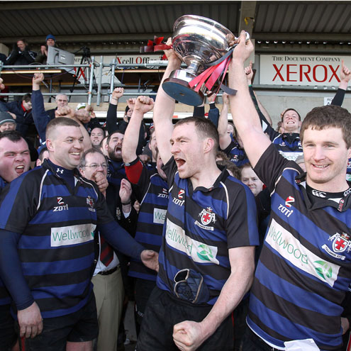 The Tullamore players with the Junior Cup