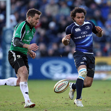 Leinster winger Isa Nacewa in action against Connacht's Brian Tuohy