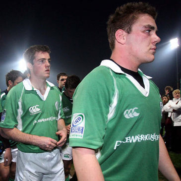 Dejected Irish players after Friday's defeat to South Africa