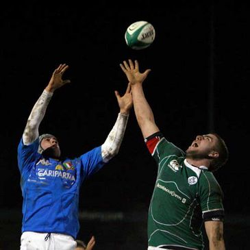 Lineout action from the Irish Under-20s' win over Italy