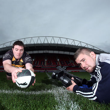 Hugh McGrath and Duncan Casey at the launch of the Ulster Bank League