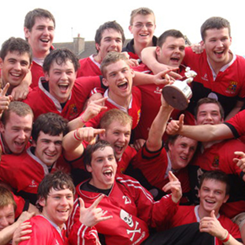 UCC celebrate winning the Fraser McMullen Cup