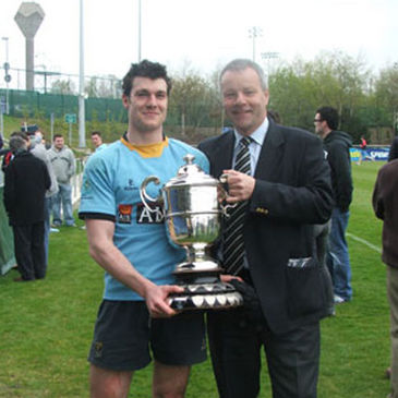 UCD captain Matt Nagle and President Paul Molony are pictured with the Dudley Cup
