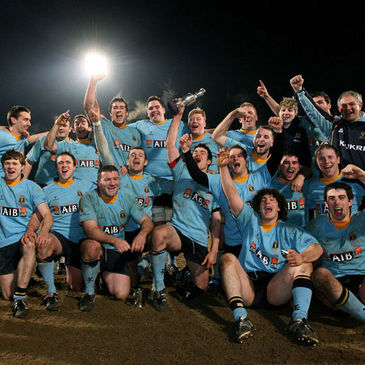 UCD celebrate with the Colours trophy