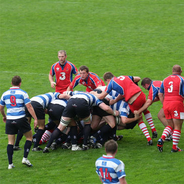 Blackrock College maul forward at Thomond Park