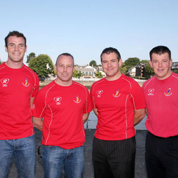 The UL Bohemians coaching staff are pictured together