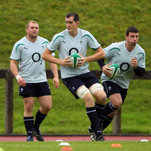Photos of the Ireland players going through their paces at UL