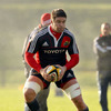 Billy Holland and the rest of the Munster squad trained in sunny but cold conditions on Wednesday morning