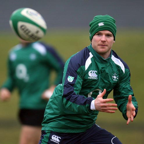 Photos from the Irish squad's training session at UL on Thursday