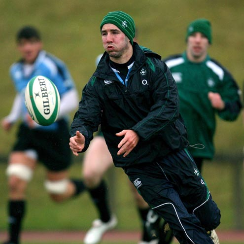 Paddy Wallace trains with the Ireland squad on Tuesday