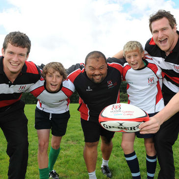 Summer camp kids with Ian Whitten, Benjy Van Der Byl and Neil McComb