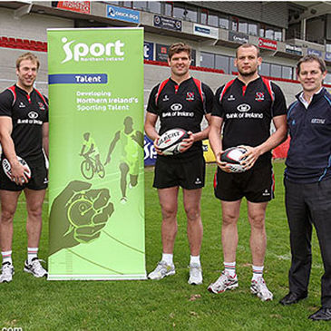 The players are backing 'Ulster's Giant Challenge'