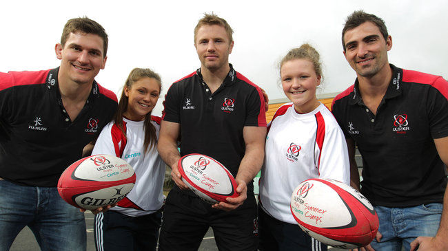 Robbie Diack, Roger Wilson and Ruan Pienaar support the Girls camps