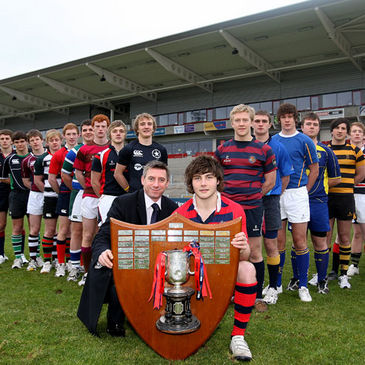 Tyrone Howe and some of the captains from the participating schools