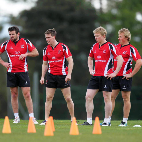 Ulster's Jared Payne, Craig Gilroy, Nevin Spence and Luke Marshall