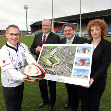 Ulster have got the go-ahead to build three new stands at Ravenhill