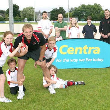 Ulster, Ireland and Lions flanker Stephen Ferris supported the Ulster Summer Camps