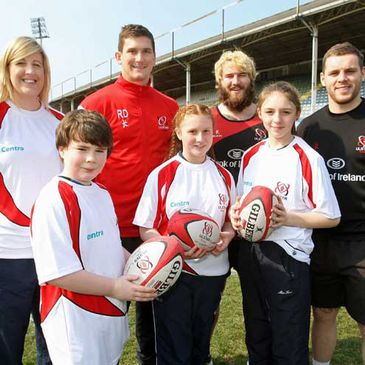 At the launch of the Ulster Rugby Centra Summer Camps