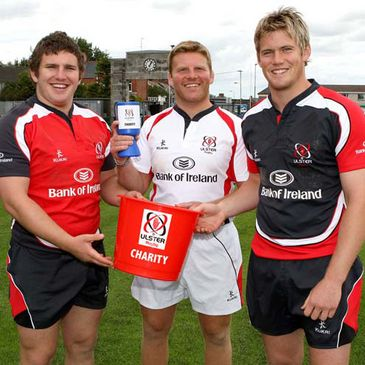 Ulster's Stuart Philpott, Nigel Brady and Niall O'Connor